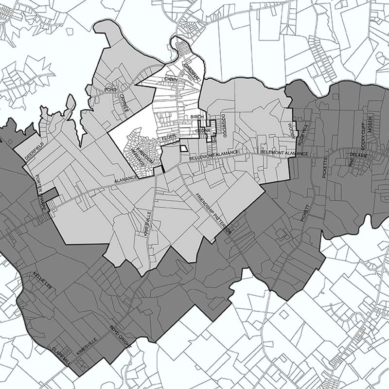 Planning and Zoning Area Map | Village of Alamance