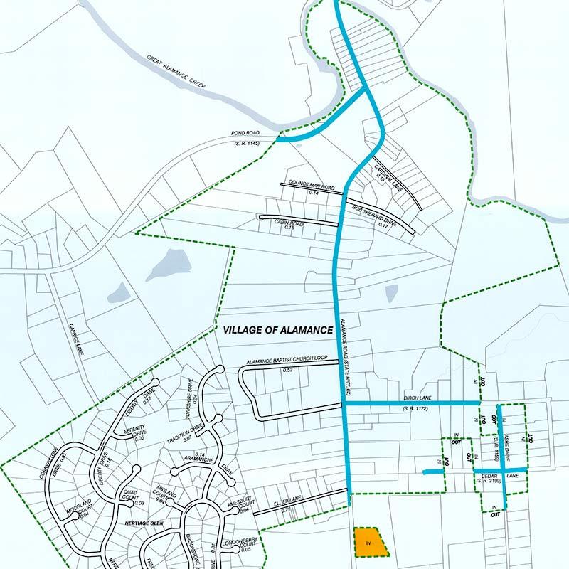 Powell Bill Map | Village of Alamance, NC